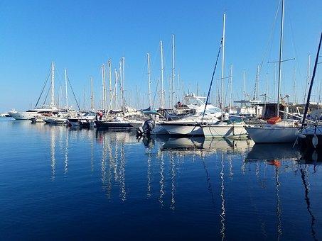 Sailboat, Yacht, Shelter, Sea, Small Boat Dock