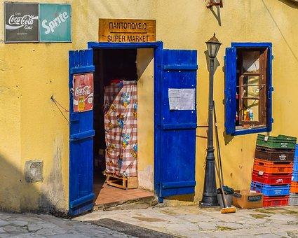 Store, Old, Village, Street, Shop, Door, Kalavassos