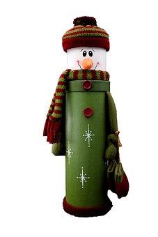 Isolated, Christmas, Santa Claus, Snow Man