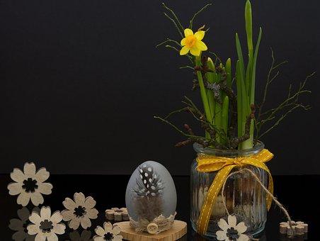 Easter, Egg, Flower, Snowflake, Fruehlingsknotenblume