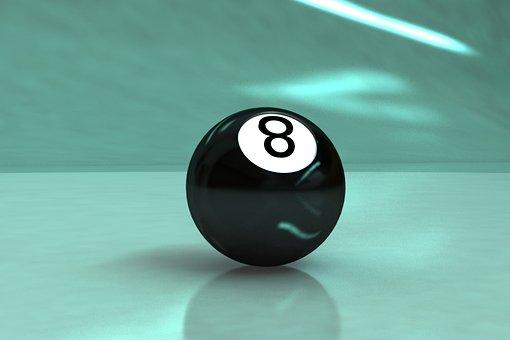 8-ball, Billiards, Game, Ball, Sphere