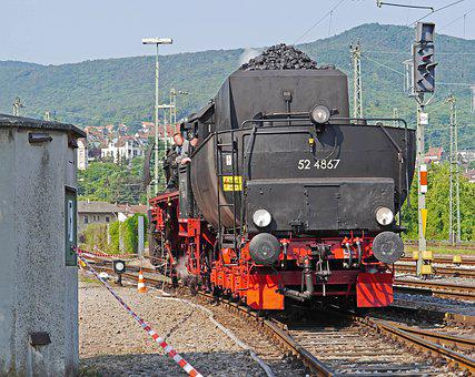 Steam Locomotive, When Tender, Shunting, Br52, Br 52