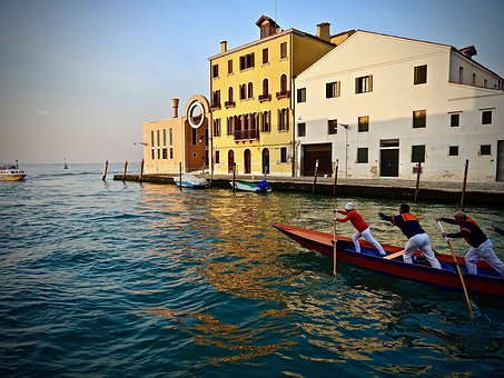 Gondola, Waters, Channel, Travel, Venetian, Venice