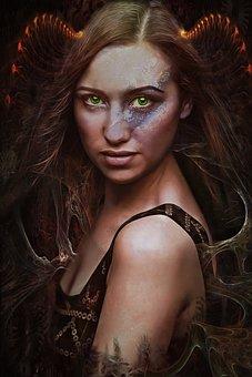 Gothic, Dark, Fantasy, Portrait, Textures, Woman