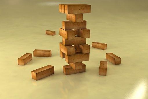 3d Modeling, Wood, Cube