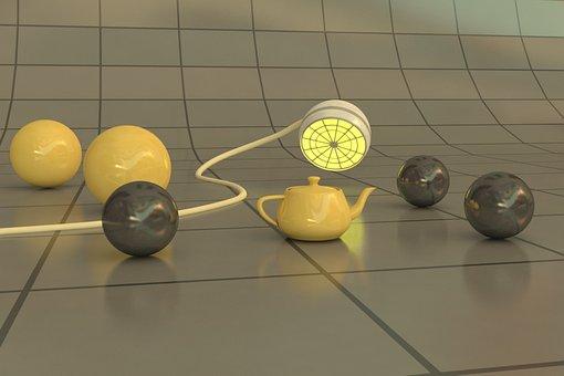 3d Modeling, 3d, Ball, Sphere, Show