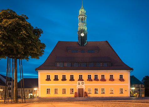 Town Hall, Architecture, Blue Hour, Sky, Travel