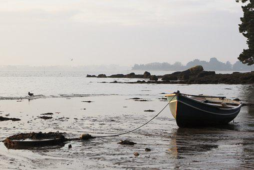 Body Of Water, Boat, Brittany, Sea