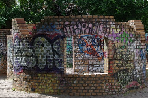 Wall, Brick, Architecture, Wall Painting, Sprayer
