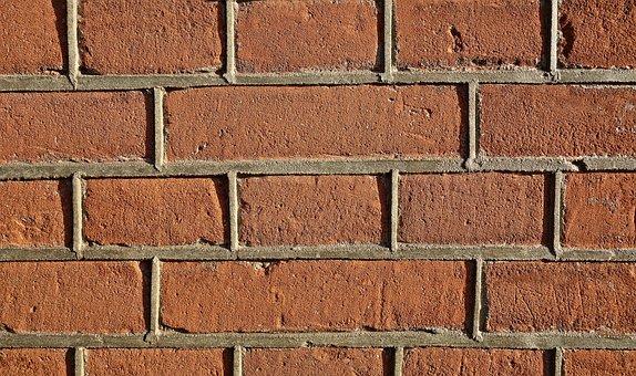 Brick Wall, Brown Brick Wall, Wall, Brick, Masonry