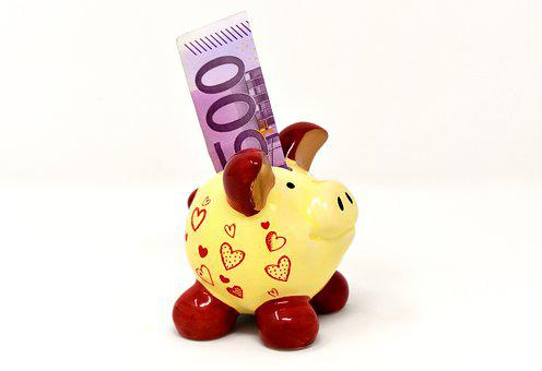 Piggy Bank, Money, Dollar Bill, 500 Euro, Save, Ceramic