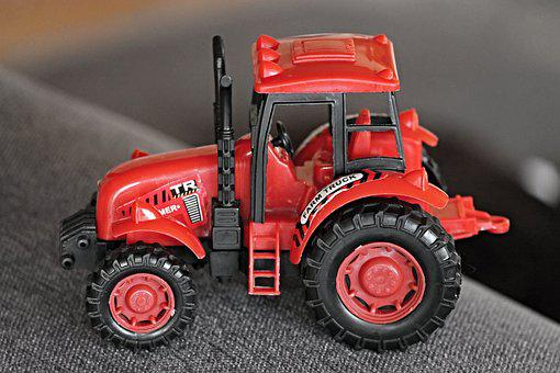 Tractor, Toys, Children Toys, Red, Agriculture
