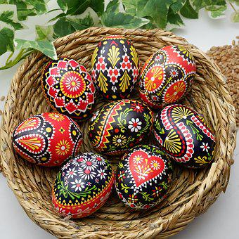 Sorbian Easter Eggs, Colorful Easter Eggs