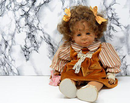 Doll, Girl, Sad, Cry, Injured, Tears, Face, View