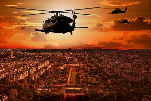 Uh-60 Black Hawk, Helicopter, Escape, Army, Usa, Uh-60