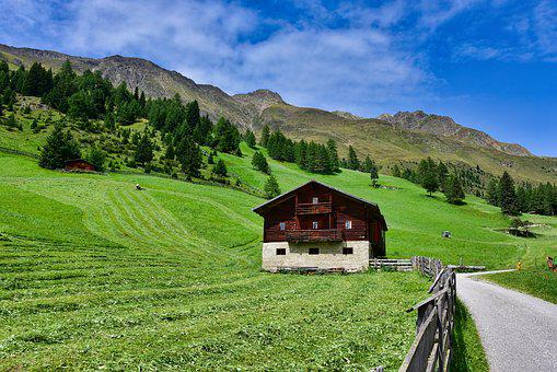 Nature, Landscape, Mountain, Panoramic, Outdoors, Farm