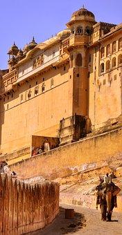 Amber Fort, Fort, Amer, Jaipur, Elephant, Tourist