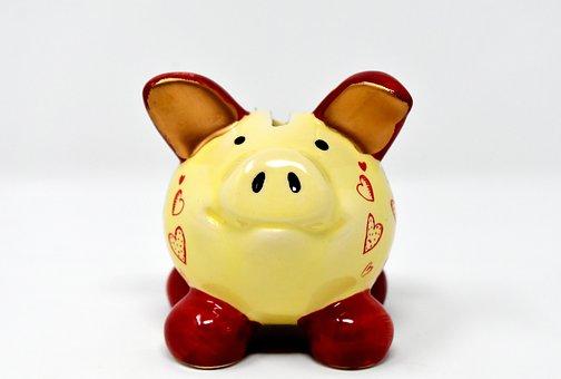 Piggy Bank, Money, Save, Ceramic, Economical, Funny