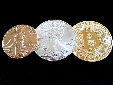 Bitcoin, Gold, Gold Eagle, Precious Metals, Blockchain