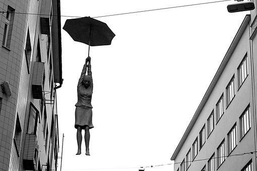 Architecture, Modern, Sculpture, Art, Hanging, Street