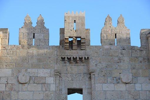 Israel, Jerusalem, Old City, Damascus Gate, Gate, Wall