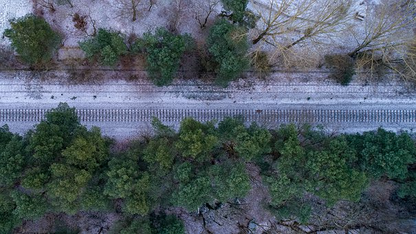Train, Seemed, Nature, Landscape, Tree, Snow, Winter