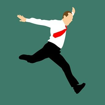 Design, Jumping, Running, Men, Businessman, Full Length
