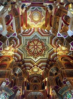 Mosaic, Religion, Ceiling, Moorish, Art, Cardiff Castle