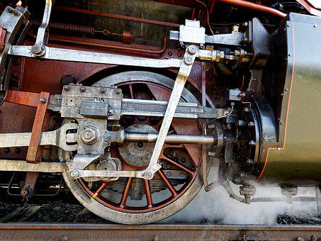 Railway, Steam, Locomotive, Motor, Transport System