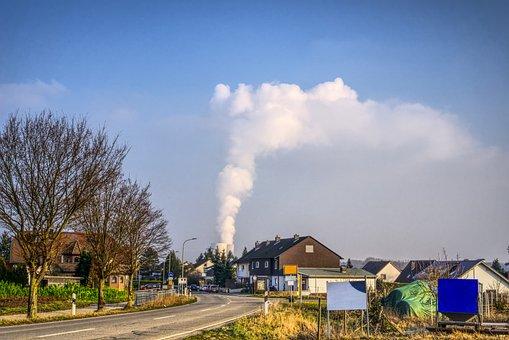 Nuclear Power Plant, Place, Skyline, Village