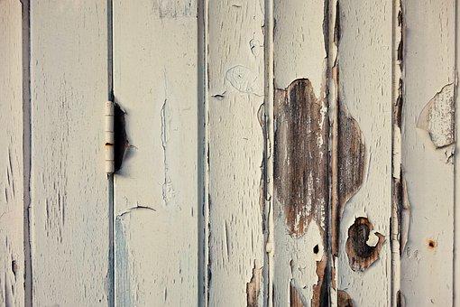 Garage Door, Door, Hinge, Plank, Paint, Flaking