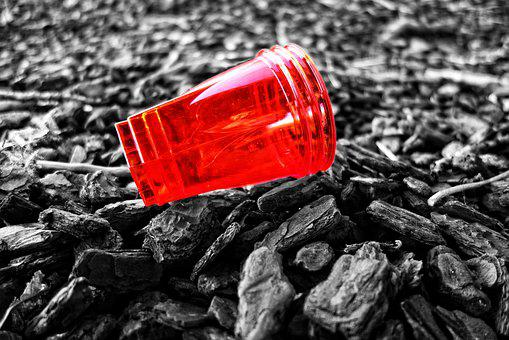 Plastic Cup, Disposable, Cup, Plastic, Red Plastic Cup