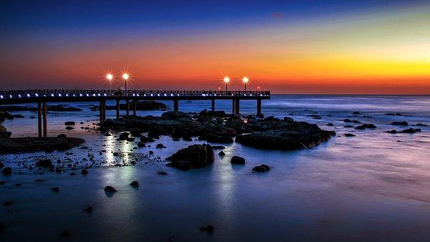 Sunset, Water, Dusk, Dawn, Sea, Reflection, Evening