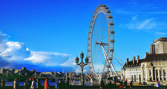 London, Eye, Major, Tourist, Attraction, River, Thames