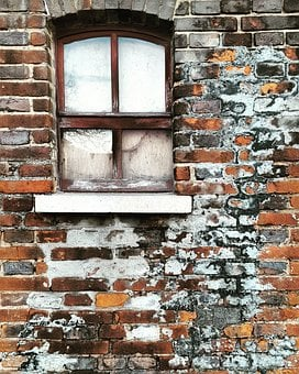 Brick, Wall, Old, Leave, Home, Expression, Stone
