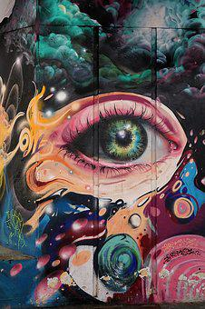 Eye, Graffiti, Street, Wall, Art, Fantasy, Creativity