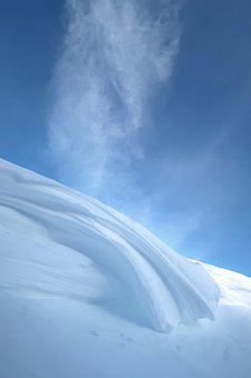 Winter, Snow, Wind, Snow Cornice, Snow Wave, Snowdrift