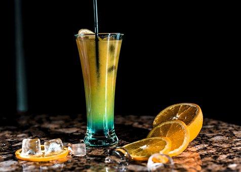 Glass, Drink, Alcohol, Bar, Appetizer, Orange, Lemon