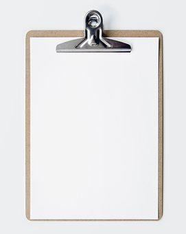 Clipboard, Blank, Empty, Show, Business, Paper