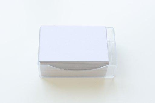 Business Cards, Show, Empty, Blank, Paper, White