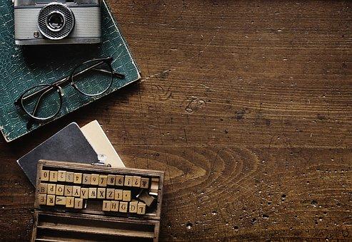 Old, Wood, Desktop, Vintage, Alphabets, Ancient, Author