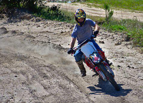 Soil, Dirt Bike, Action, People, Hurry, Man, Active