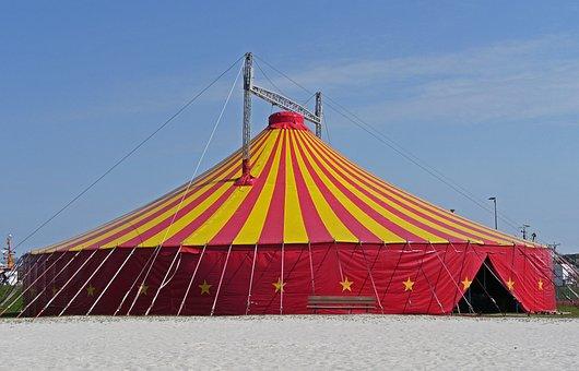 Circus Tent, Event, District, Circular, Ring, Beach