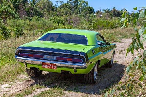 Car, Vehicle, Chrysler, Restored, Dodge Challenger
