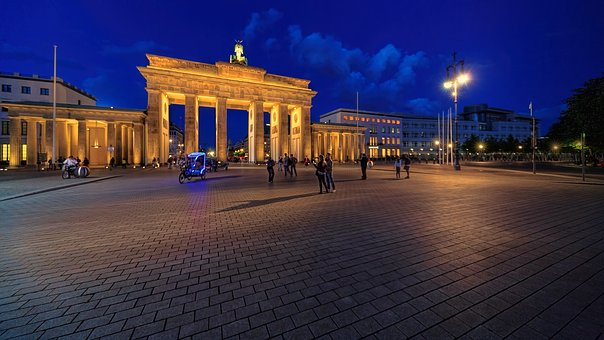 Panorama, Travel, Dusk, Architecture, Berlin