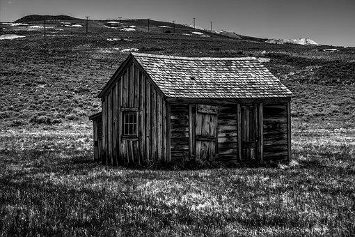 Barn, Farmhouse, Abandoned, Monochrome, Shed, House