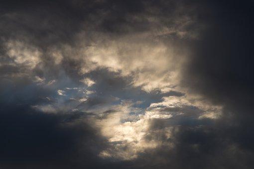 Cloudscape, Sky, Grey, Blue, White, Clouds, Weather