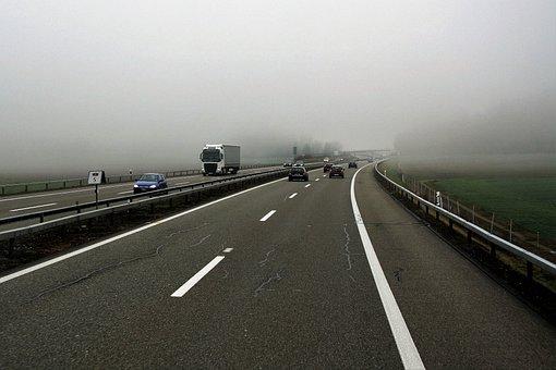 Highway, Asphalt, Transport, Travel, Street, The Fog