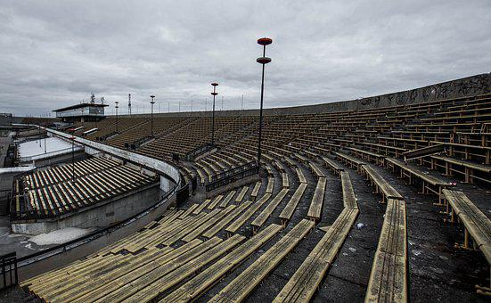 Stadium, Old, Urbex, Light, Abandoned, Old Building