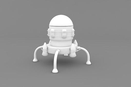 Ship, 3d, Illustration, Modeling